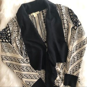 [staring at stars] Aztec print cardigan sweater